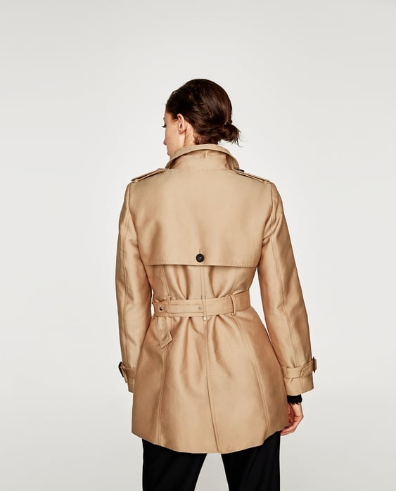 SHORT TRENCH COAT - Trench coats-OUTERWEAR-WOMAN | ZARA United States