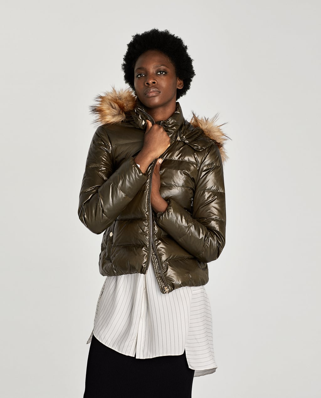 SHINY DOWN PUFFER JACKET - Puffers | ZARA United Kingdom