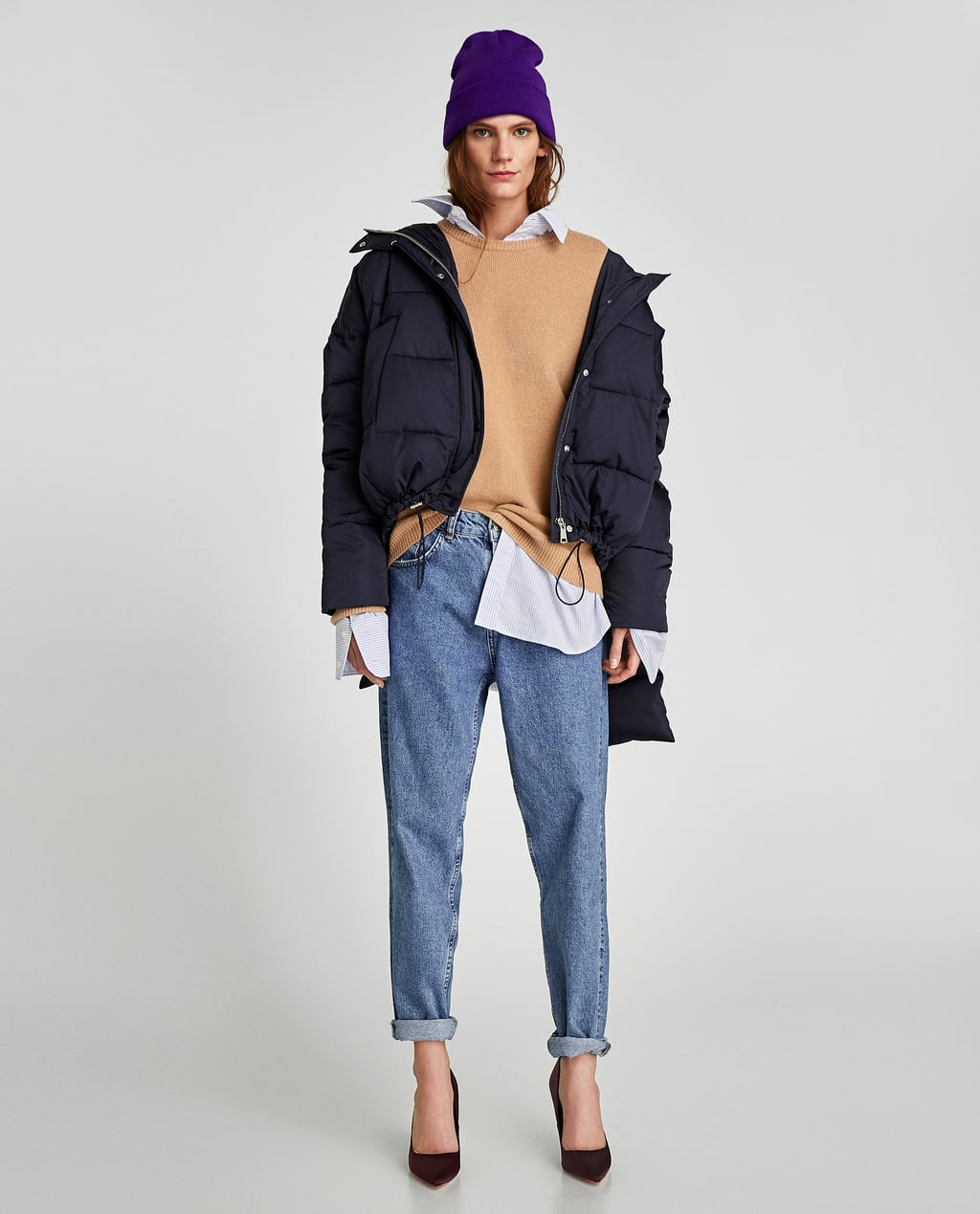 QUILTED JACKET WITH SCARF - COLLECTION-SALE-WOMAN | ZARA United States : zara mens quilted jacket - Adamdwight.com