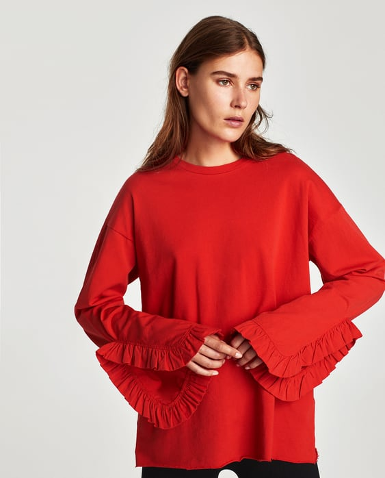 Image 2 of TOP WITH FRILL SLEEVE from Zara