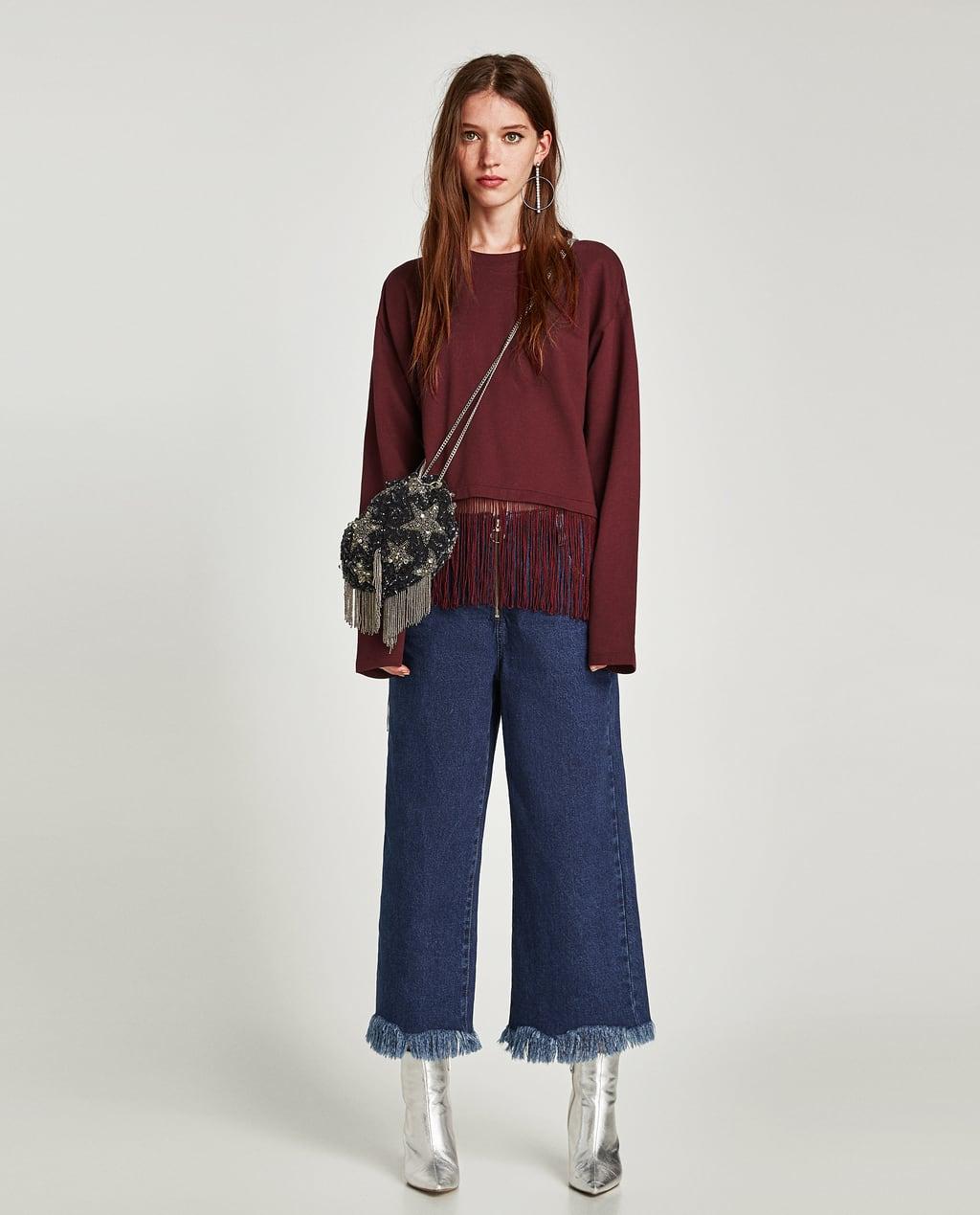 Image 1 of FRINGED SWEATSHIRT from Zara