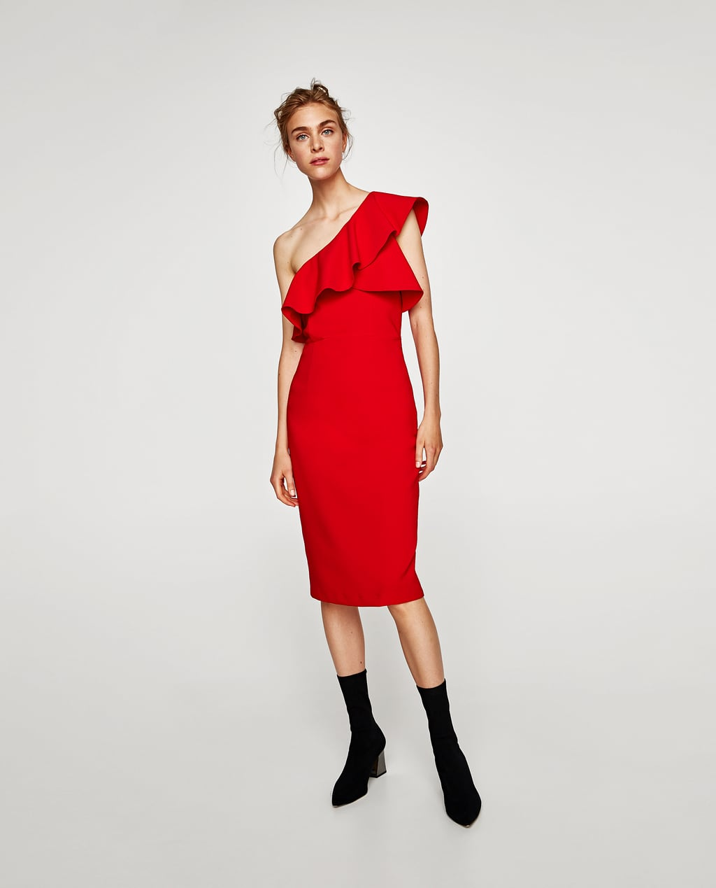 Image 1 of FRILLED ASYMMETRIC DRESS from Zara