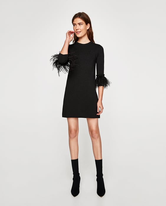 Image 1 of DRESS WITH FEATHERS from Zara