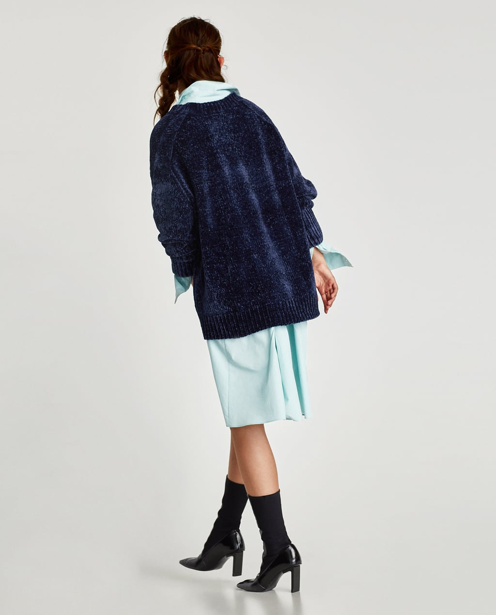 Image 4 of OVERSIZED CHENILLE SWEATER from Zara