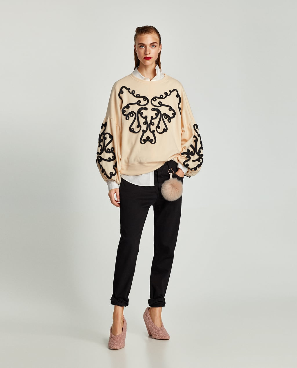 Image 1 of SWEATSHIRT WITH TOGGLES from Zara
