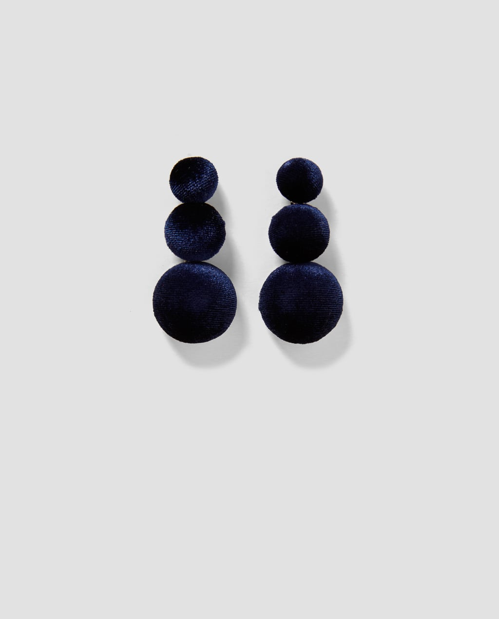 Image 1 of VELVET EARRINGS from Zara
