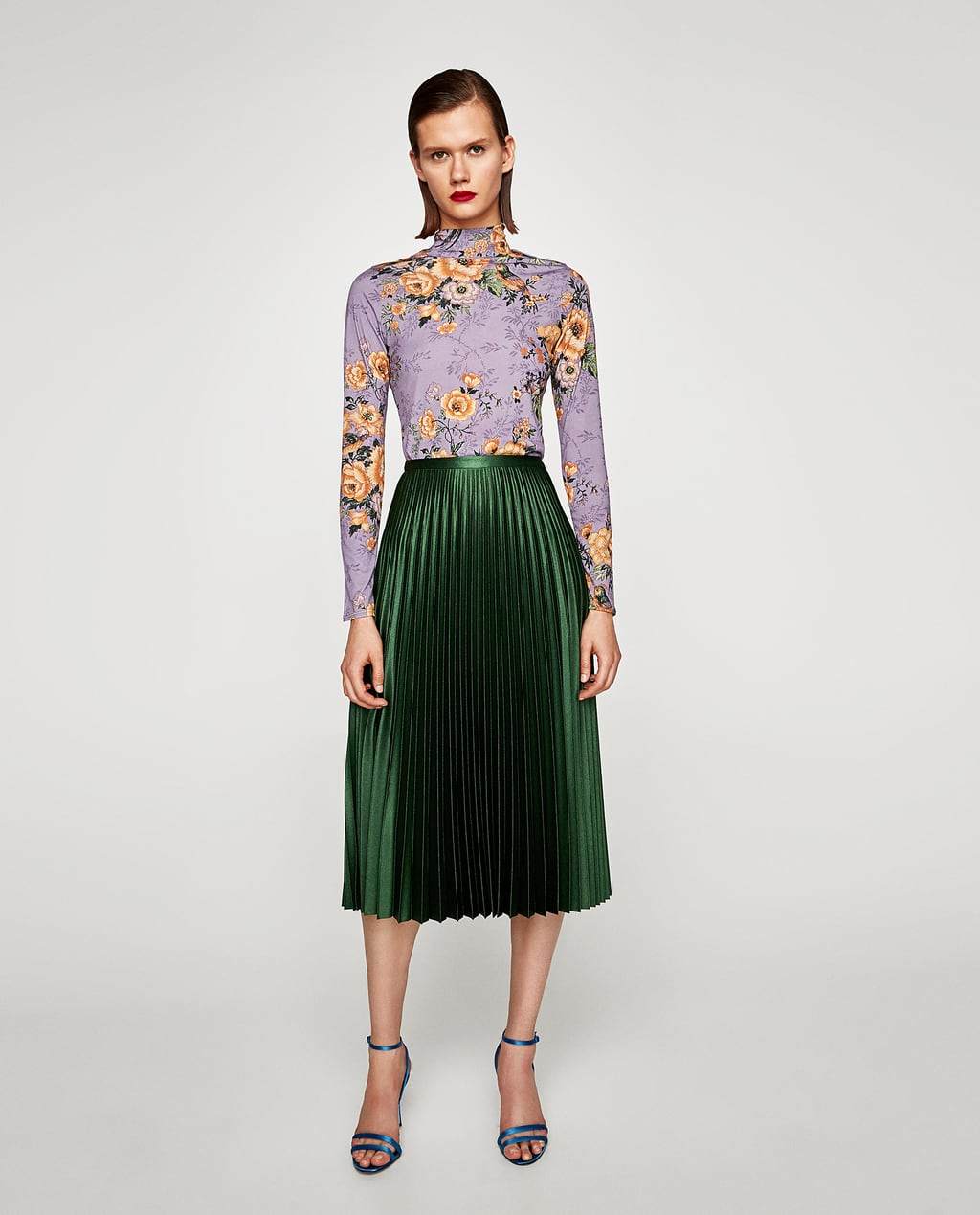 PLEATED MIDI SKIRT - View all-SKIRTS-WOMAN | ZARA United States