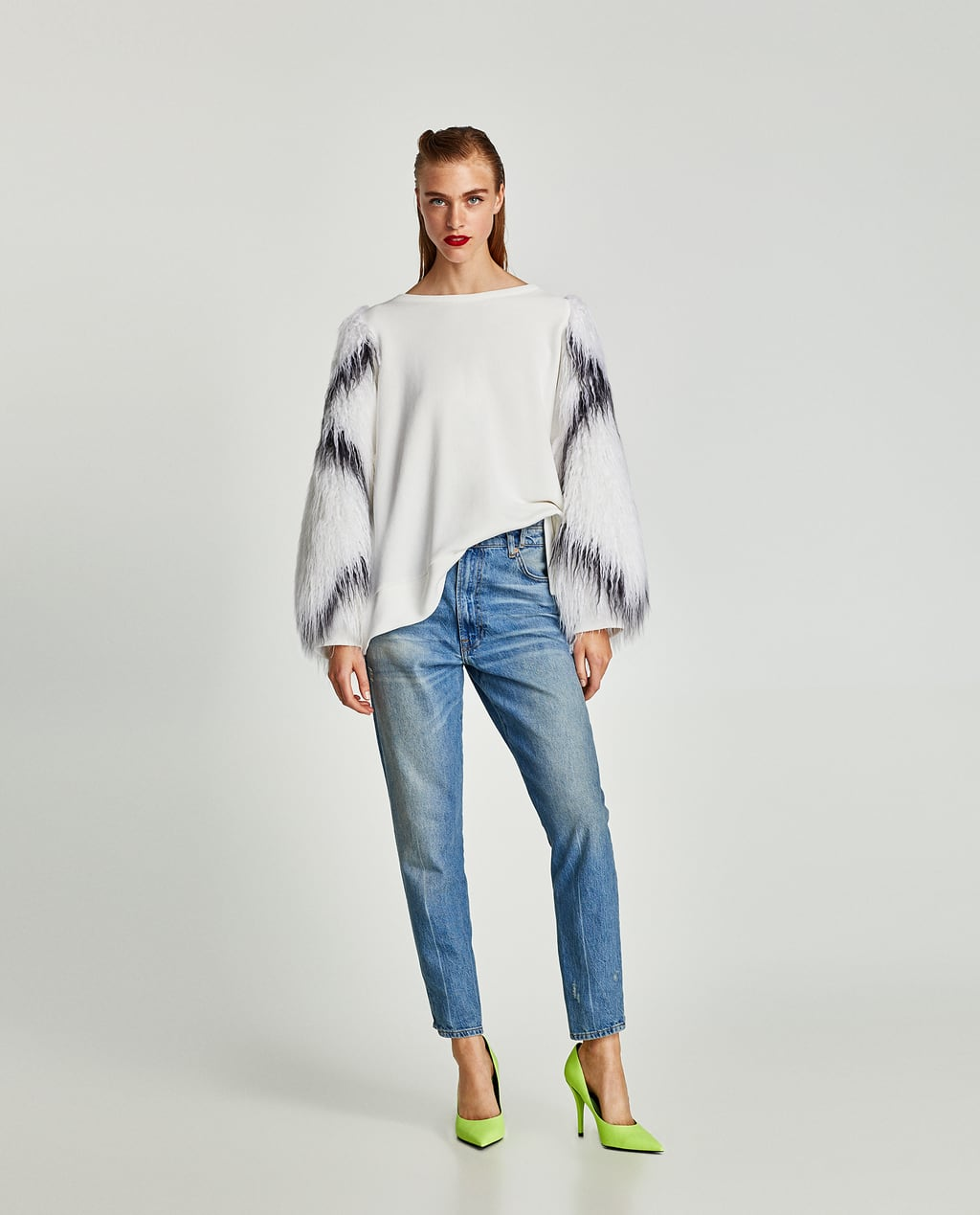 Image 1 of SWEATSHIRT WITH CONTRASTING SLEEVES from Zara