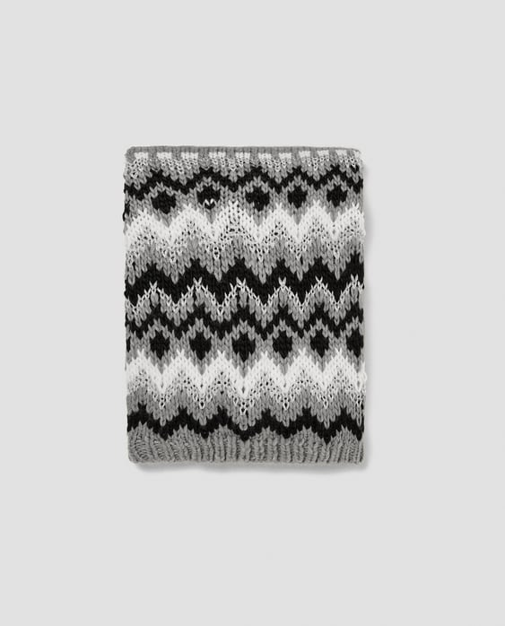 Image 1 of SHIMMERY THREAD KNIT SCARF from Zara