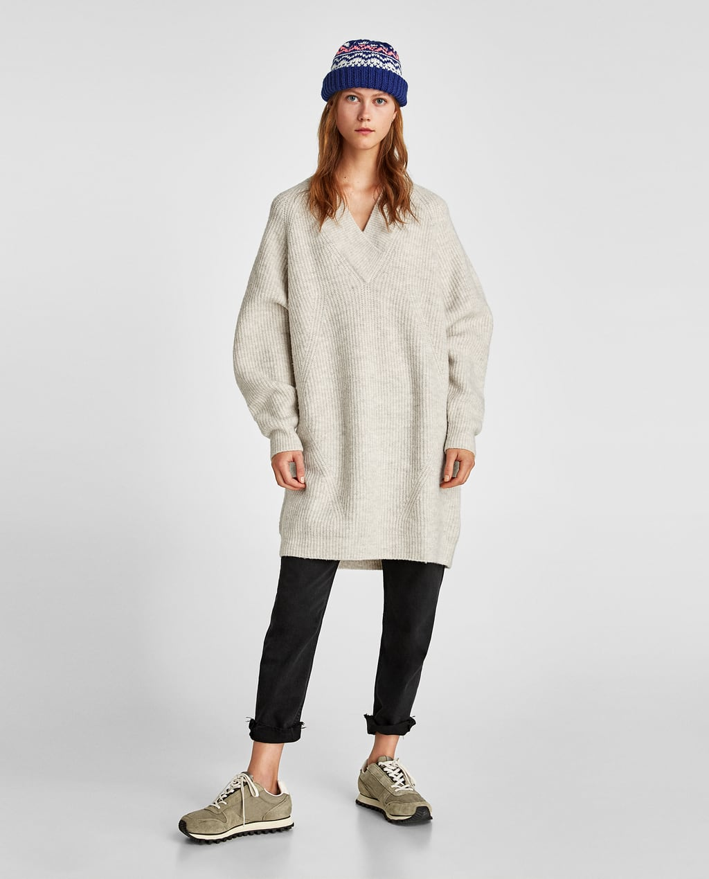 OVERSIZED SWEATER DRESS - Sweaters-KNITWEAR-WOMAN-SALE | ZARA Mexico