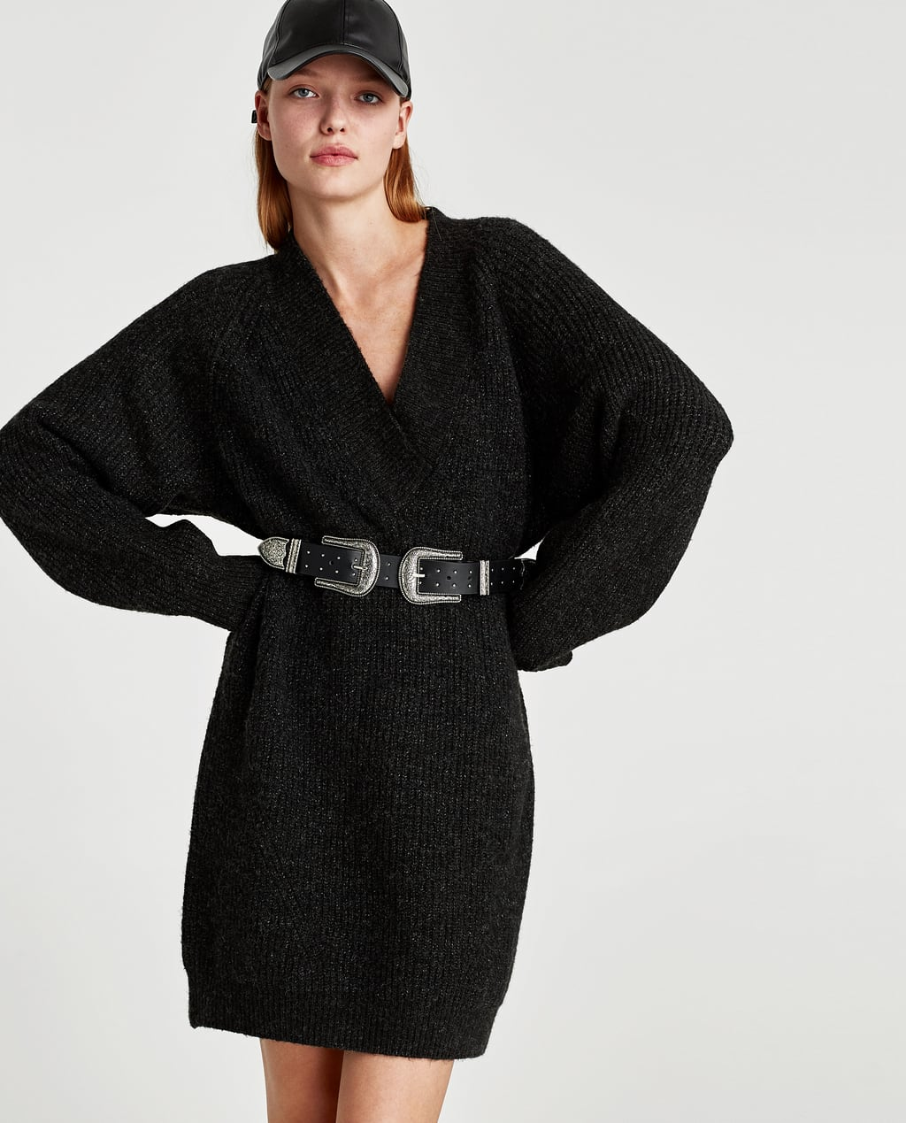 OVERSIZED SWEATER DRESS - Sweaters-KNITWEAR-WOMAN-SALE | ZARA ...