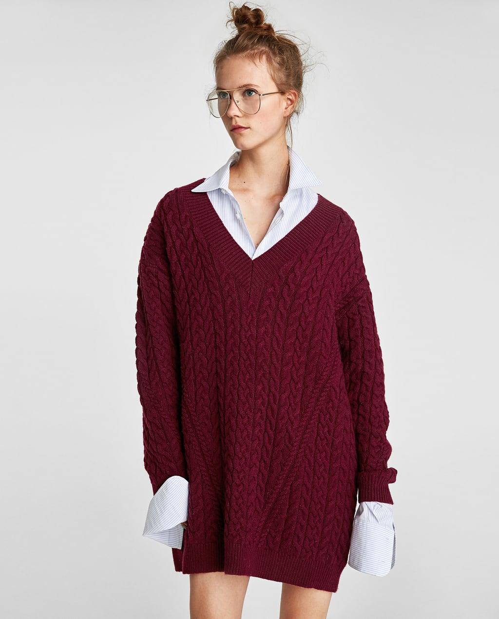 CABLE - KNIT V-NECK SWEATER-Sweaters-KNITWEAR-WOMAN-SALE | ZARA ...