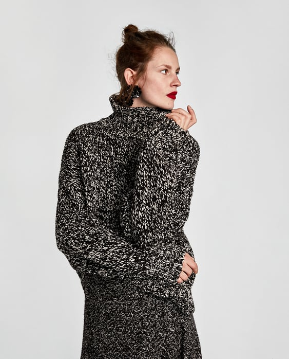Image 2 of OVERSIZED ROLL NECK SWEATER from Zara