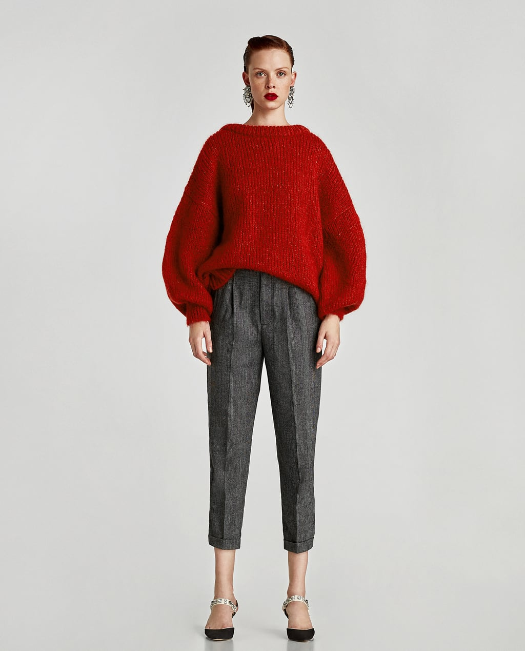 Image 1 of CROPPED TROUSERS WITH PLEAT from Zara