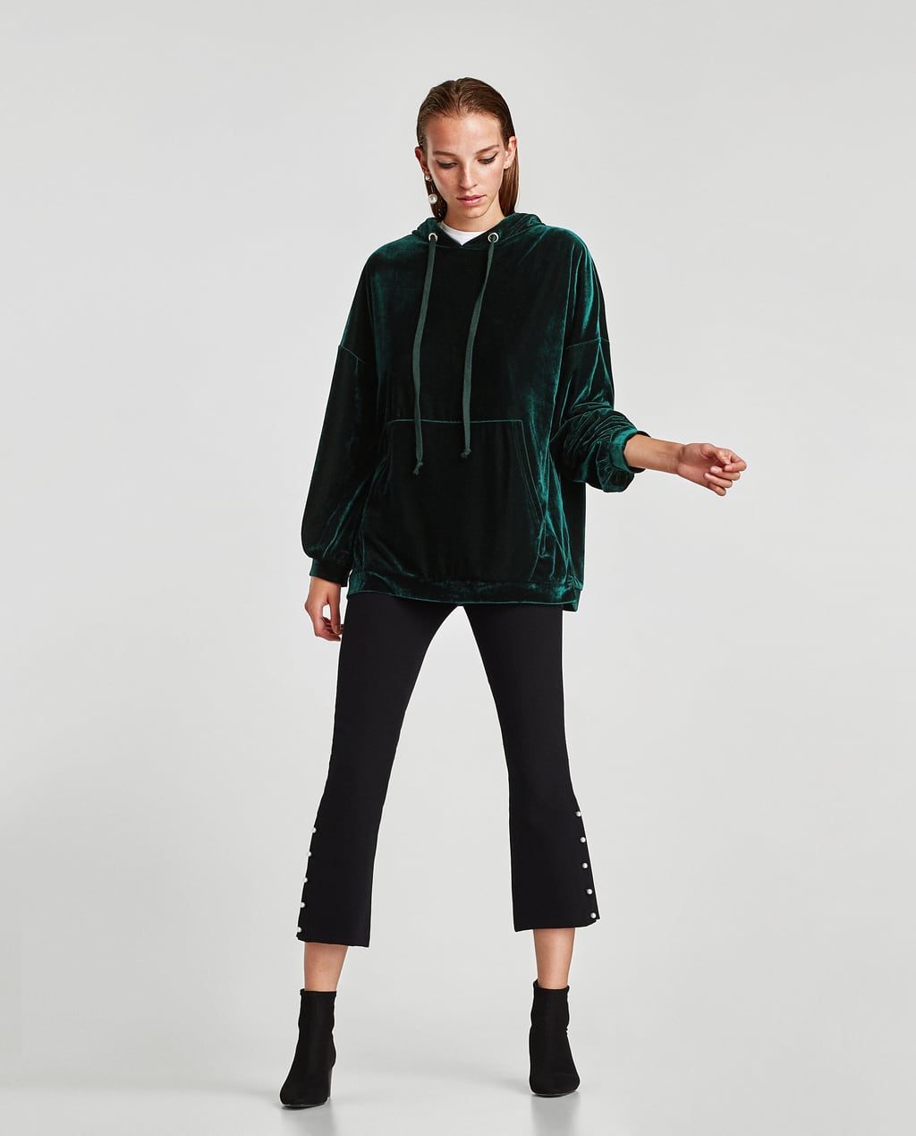 Image 1 of HOODED SWEATSHIRT from Zara