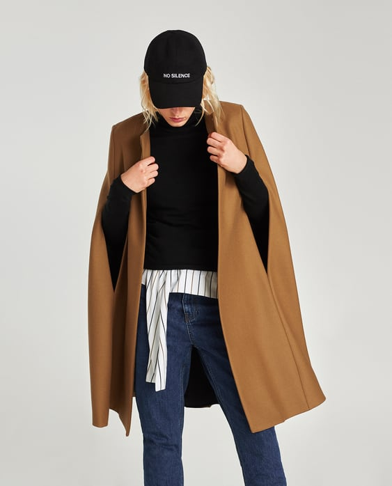 Image 6 of LONG CLOTH CAPE from Zara