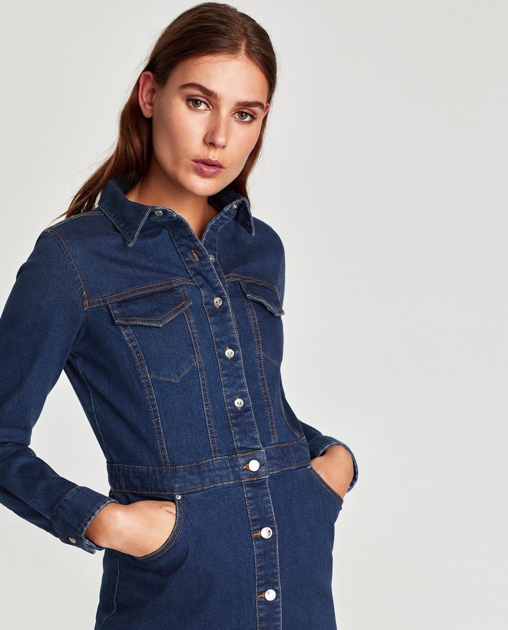 Image 2 Of Denim Dress From Zara