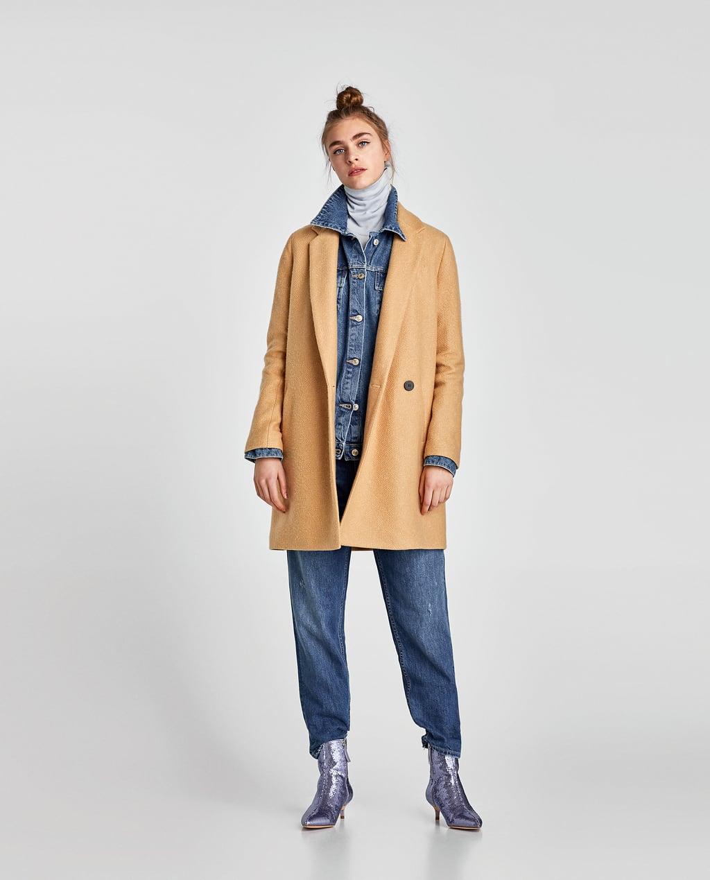 Zdjęcie 1 SOFT-FEEL DOUBLE-BREASTED COAT z Zara