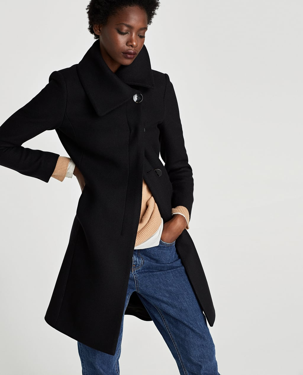 Image 6 of COAT WITH WRAP COLLAR from Zara