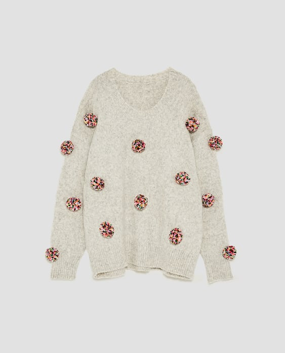 Image 8 of OVERSIZED POMPOMS SWEATER from Zara