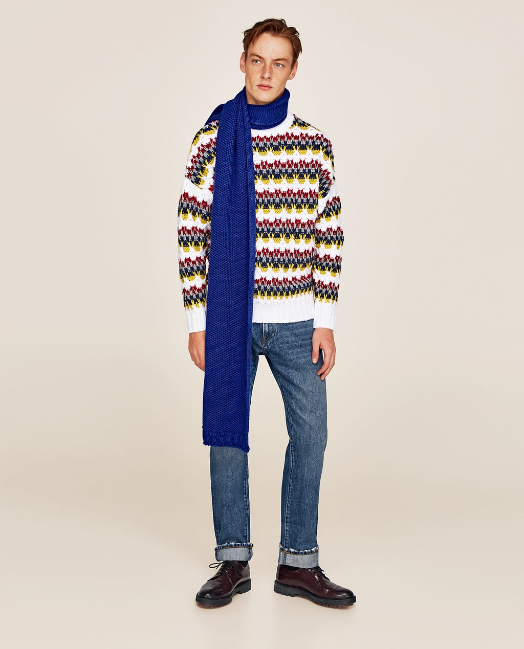 COLOURFUL JACQUARD SWEATER - View All-KNITWEAR AND CARDIGANS-MAN ...