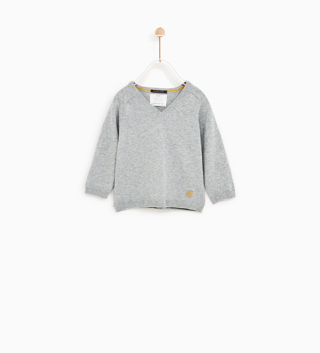 BASIC V - NECK SWEATER-CARDIGANS AND SWEATERS-BABY BOY | 3 months ...