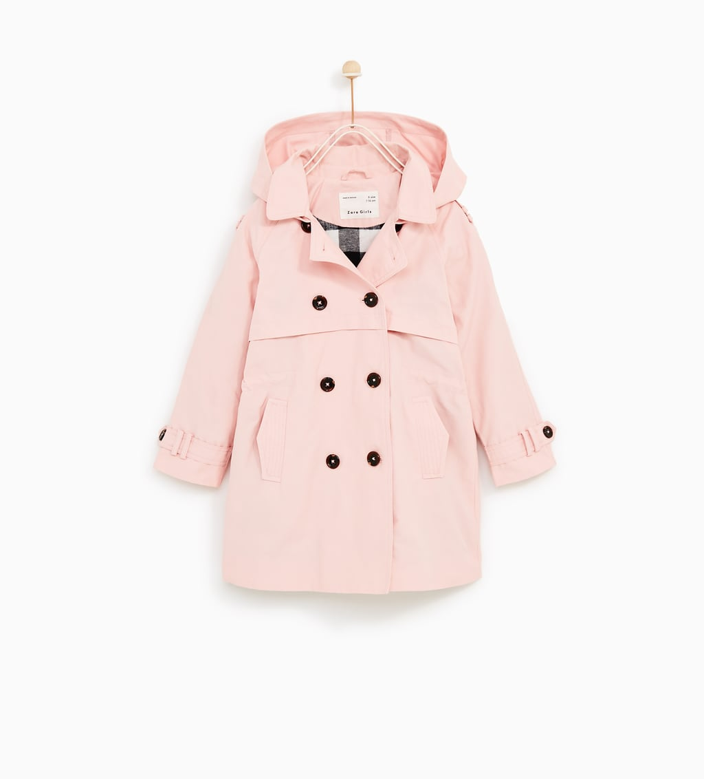 BASIC TRENCH COAT WITH HOOD - COLLECTION | GIRL-BACK TO SCHOOL ...