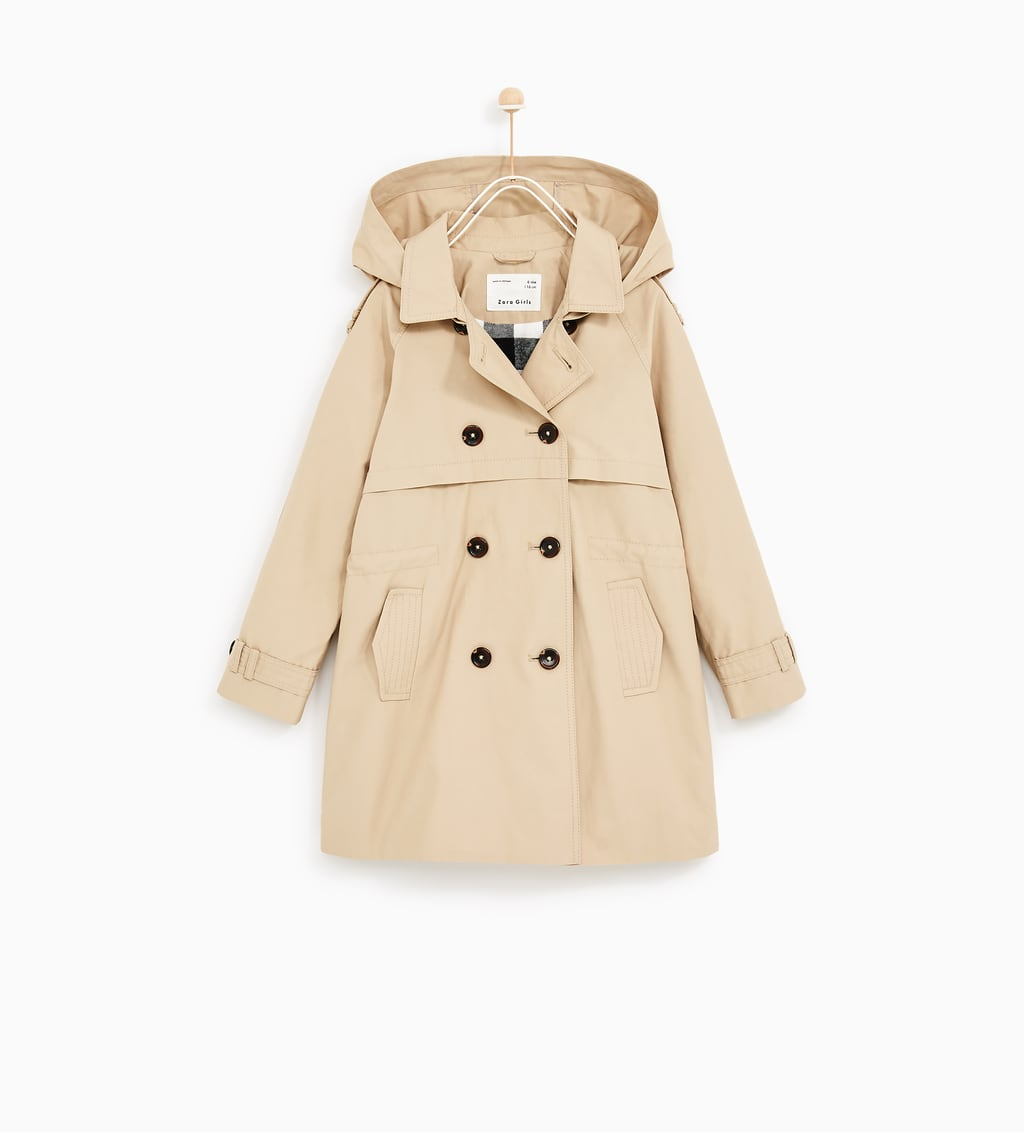 BASIC TRENCH COAT WITH HOOD - OUTERWEAR-GIRL | 5 - 14 years-KIDS ...