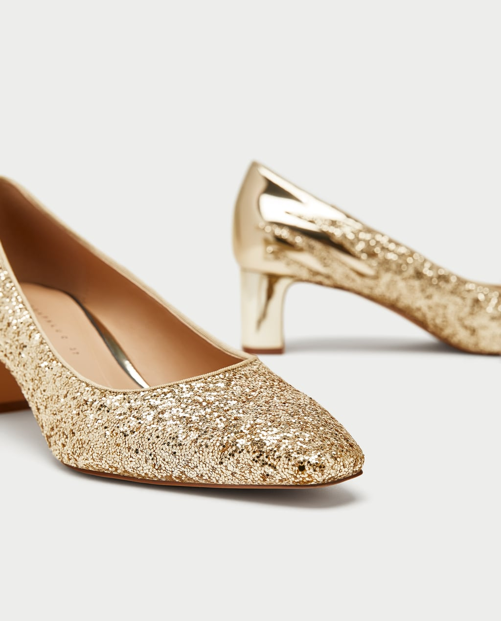 GOLD COURT SHOES - View All-SHOES | ACCESSORIES-SALE-WOMAN | ZARA ...