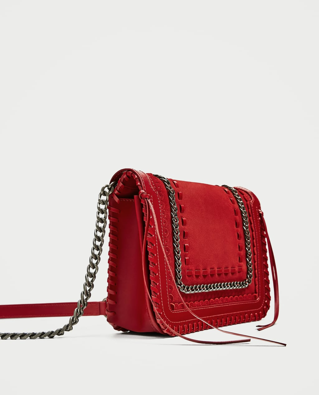 RED LEATHER CROSSBODY BAG - Leather-BAGS-WOMAN | ZARA United States