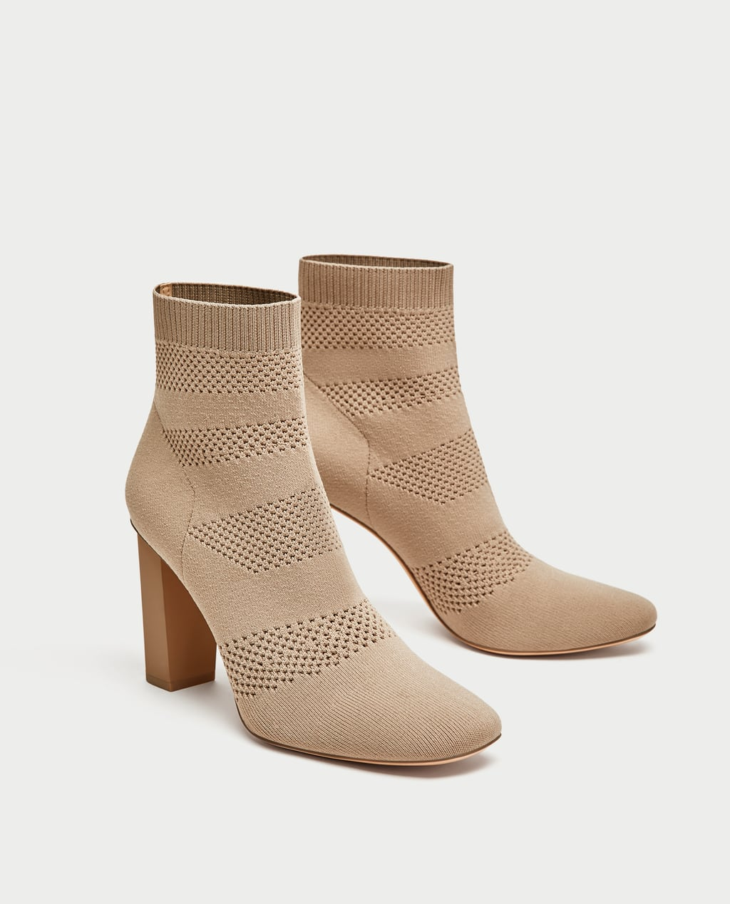 Image 1 of FABRIC HIGH HEEL ANKLE BOOTS from Zara