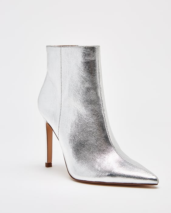 SILVER STILETTO HEEL ANKLE BOOTS - SHOES-WOMAN | ZARA United States