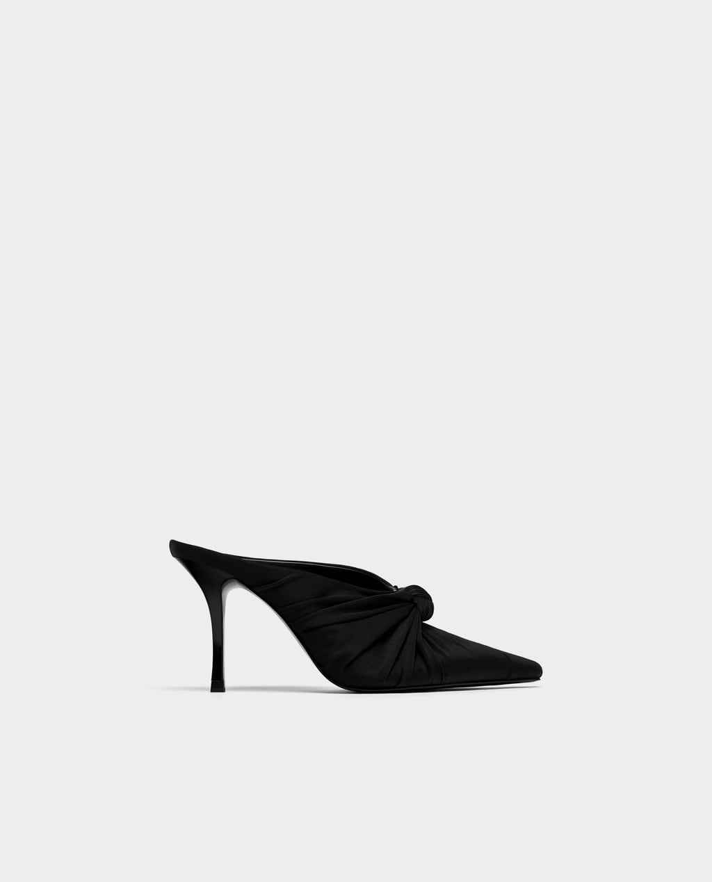 Image 1 of HIGH HEEL MULES WITH BOW from Zara