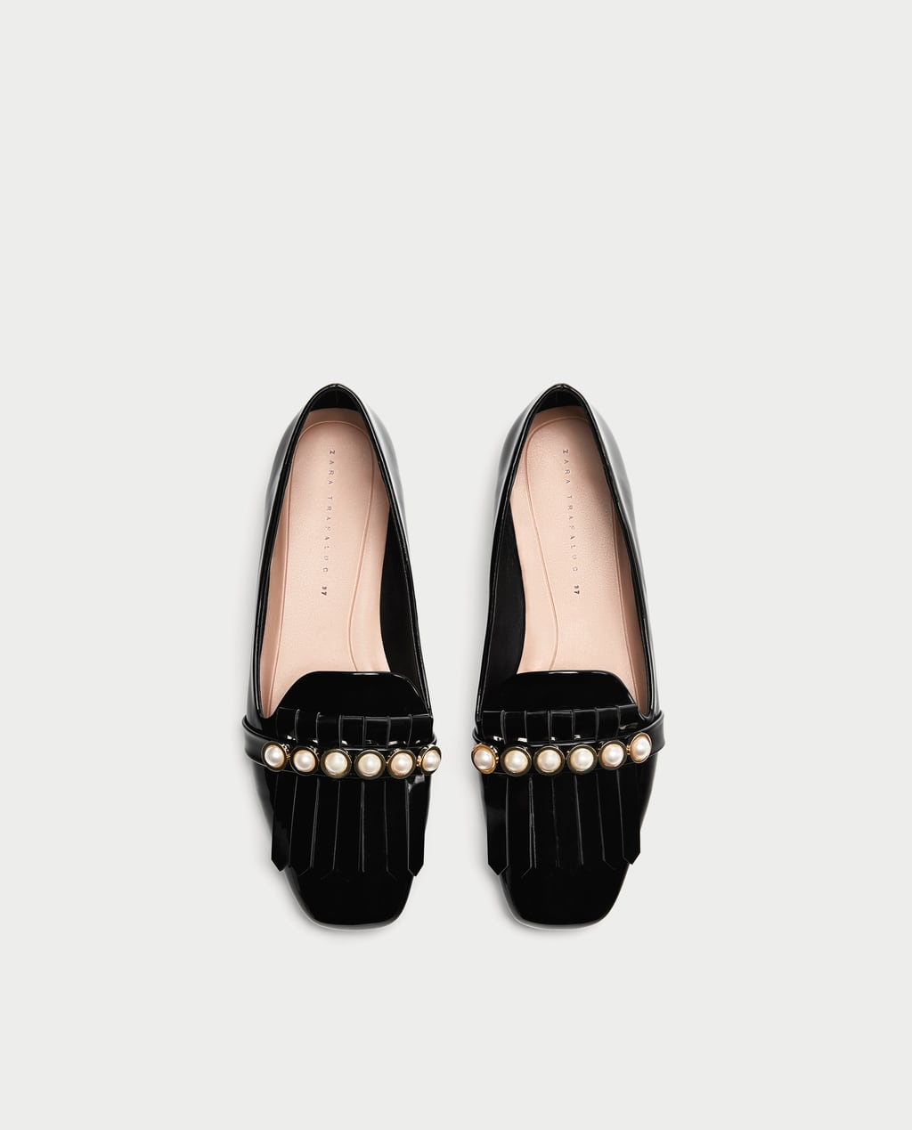Image 1 of PENNY LOAFERS WITH PEARLS from Zara