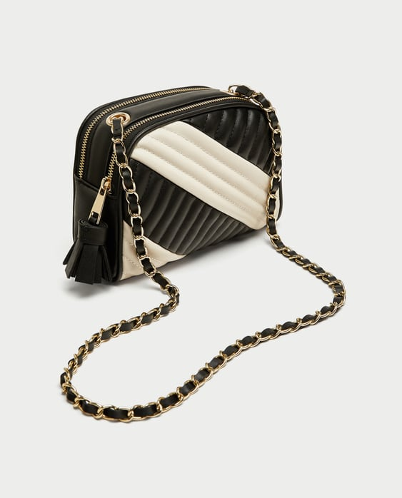 Image 3 of QUILTED TWO-TONE CROSSBODY BAG from Zara