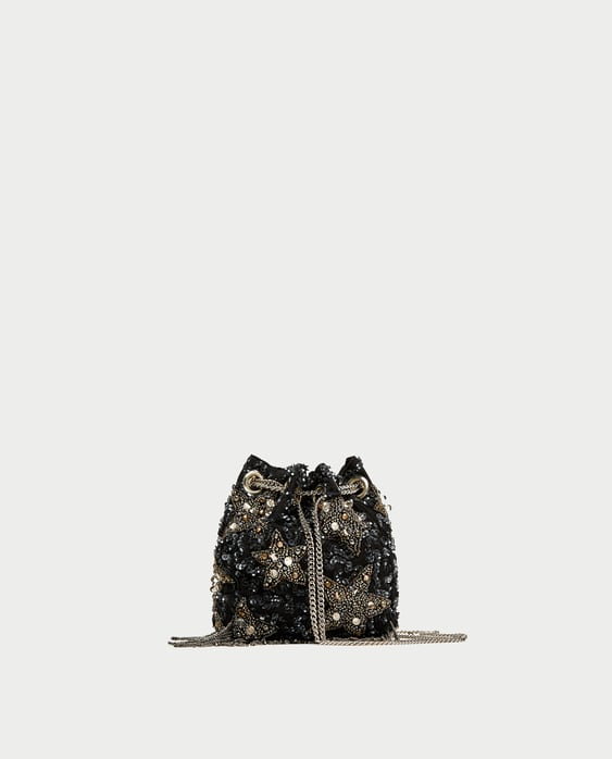 Image 2 of BEADED STARS CROSSBODY BUCKET BAG from Zara