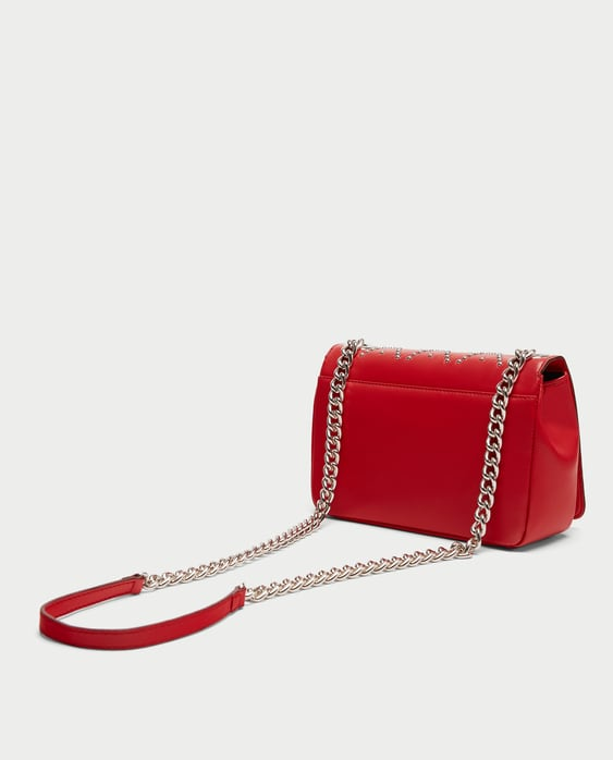 STUDDED LEATHER CROSSBODY BAG - Crossbody Bags-BAGS-WOMAN | ZARA ...