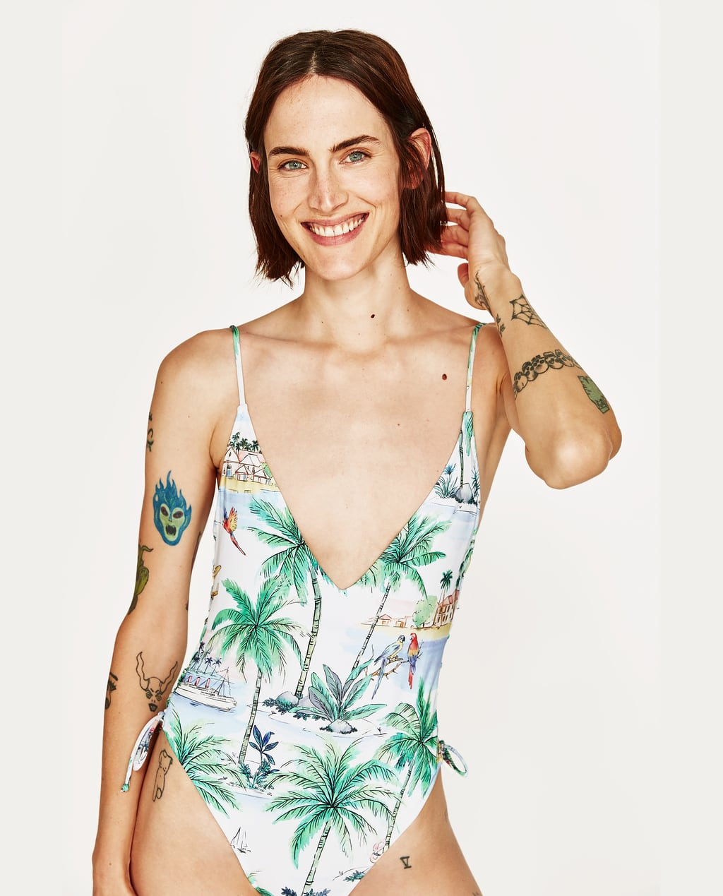 PRINTED SWIMSUIT - NEW IN   ZARA United States
