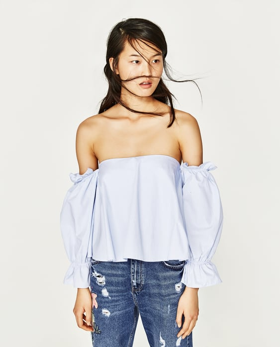 Image 2 of TOP WITH OFF-THE-SHOULDER NECKLINE from Zara
