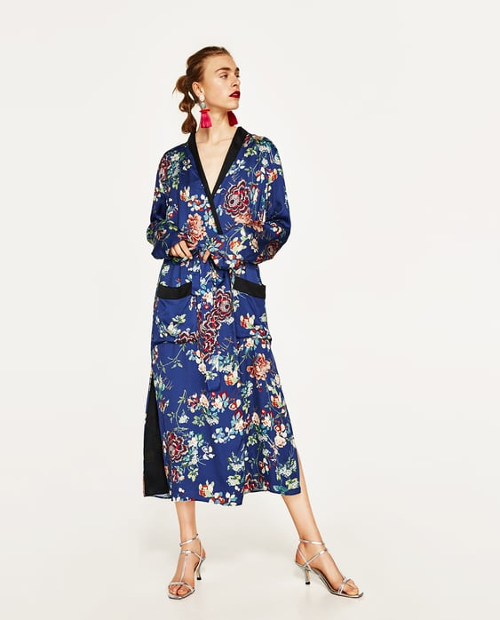Imagem 1 de QUIMONO COMPRIDO FLORES da Zara