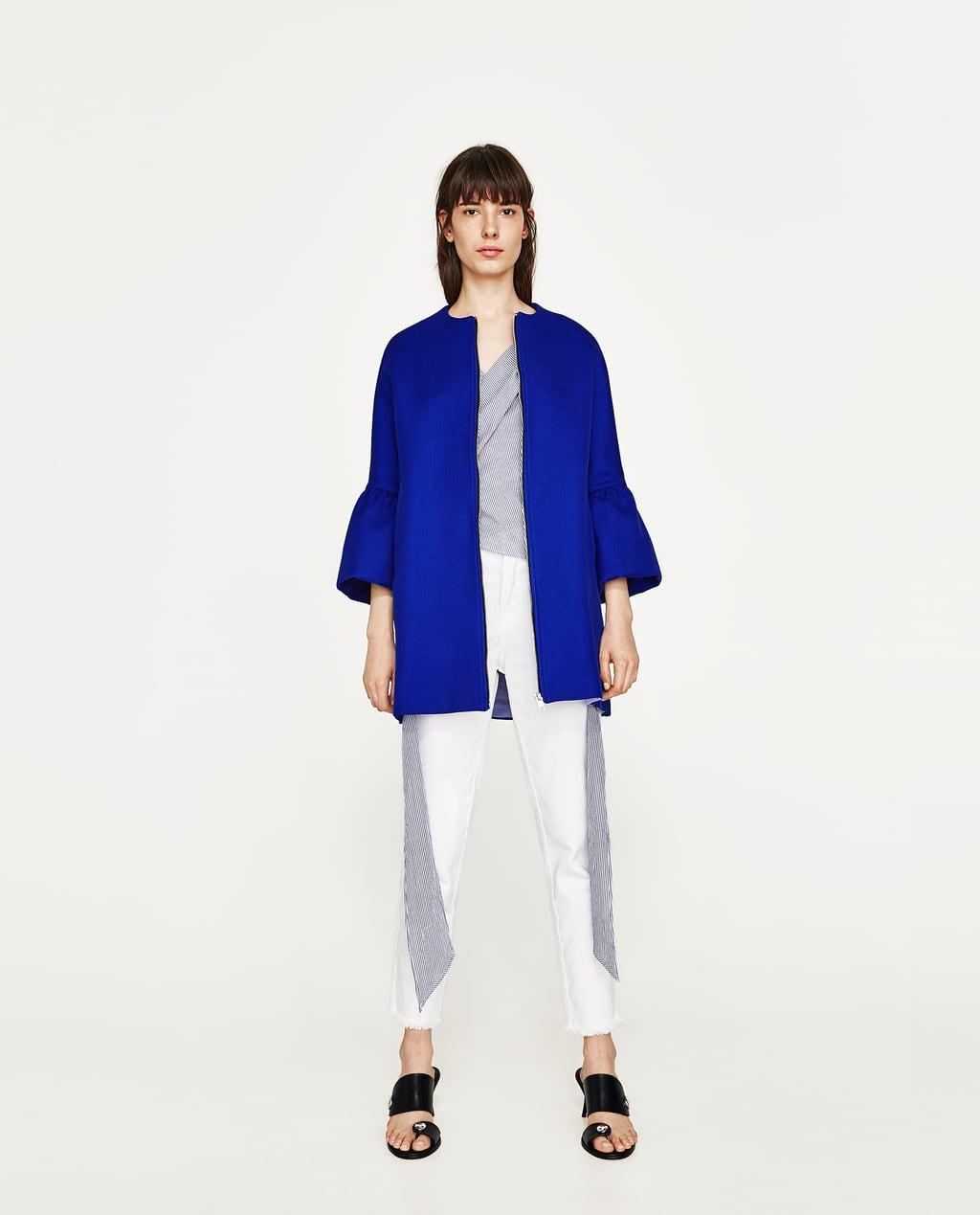 Image 1 of FRILLED SLEEVE COAT from Zara