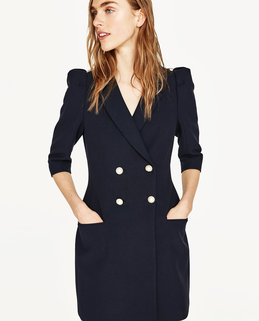 Image 1 of BLAZER DRESS WITH PEARL BUTTONS from Zara - BLAZER DRESS WITH PEARL BUTTONS - NEW IN ZARA United States