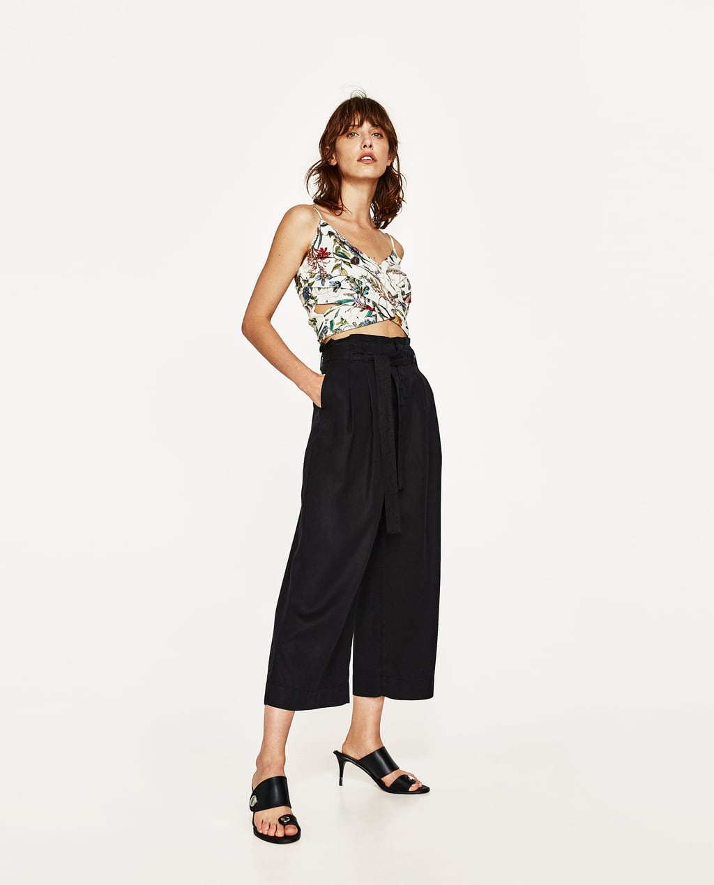 Image 1 of CULOTTES WITH BOW from Zara