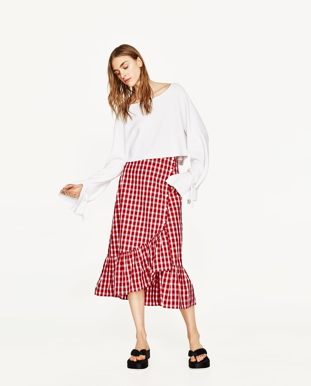 CROPPED SWEATER WITH RIBBON DETAILS - NEW IN   ZARA United States