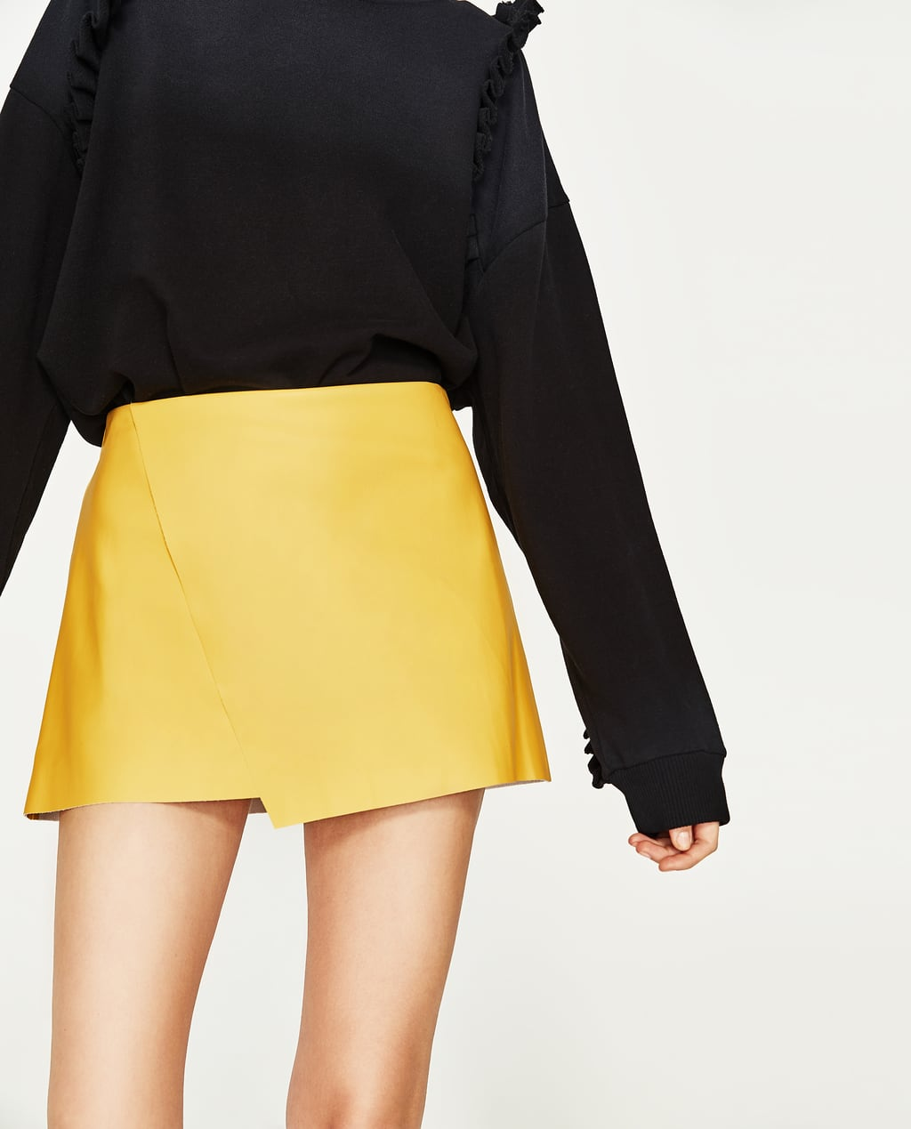 LEATHER EFFECT MINI SKIRT - COLLECTION-SALE-WOMAN | ZARA United States
