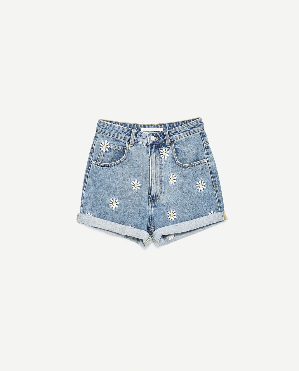Image 8 of BERMUDA SHORTS WITH EMBROIDERED DAISIES from Zara