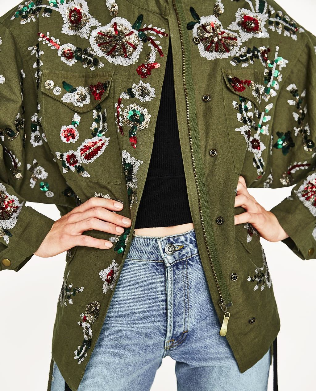 Image 4 of LIMITED EDITION EMBROIDERED PARKA from Zara