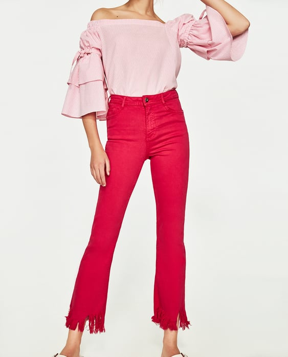 HIGH - RISE CROPPED MINI FLARE JEANS-JEANS-TRF-SALE | ZARA United ...