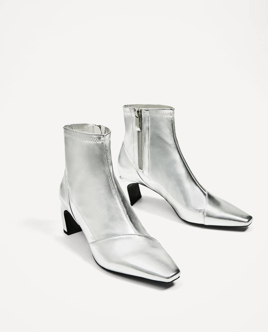 SILVER - TONED ELASTIC HIGH HEEL ANKLE BOOTS-View all-SHOES-WOMAN ...