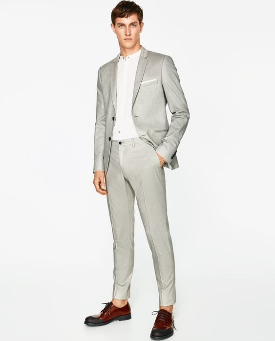 GREY SUIT WITH SHEEN - SUITS-MAN-SALE | ZARA United States